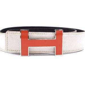 32mm Quizz Orange Enamel Plated H Size 80 Belt